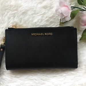 NWT Michael Kors Double Zip Wristlet Wallet